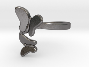 Butterfly Ring 23mm in Polished Nickel Steel
