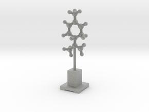Molecule Statuette in Metallic Plastic