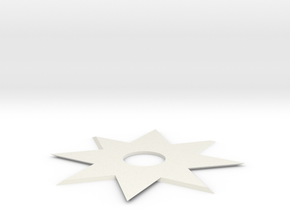 Ninja Star in White Natural Versatile Plastic