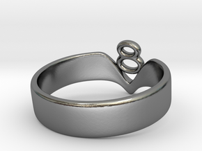 Ring3-triple in Polished Silver
