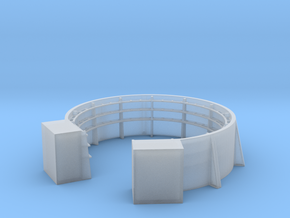 1/125 40mm Gun Tub Shield with Shell Bracket in Smooth Fine Detail Plastic