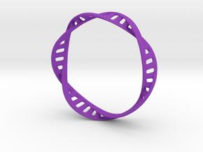 DNA Bracelet (Large) in Purple Processed Versatile Plastic