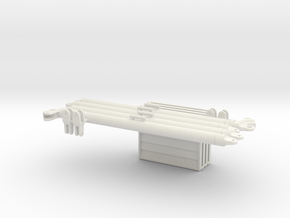1:18 4 X IFF 2 X DRAWBAR  in White Natural Versatile Plastic