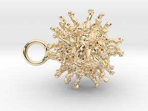Poliovirus Pendant in 14K Yellow Gold