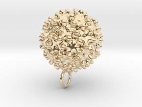 Hepatitis B Virus Pendant in 14K Yellow Gold