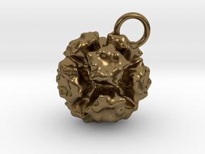 Adenovirus Pendant 20mm diameter in Natural Bronze