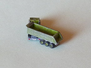 3-Axle Dump-Semi Trailer 1/285 6mm in Smooth Fine Detail Plastic