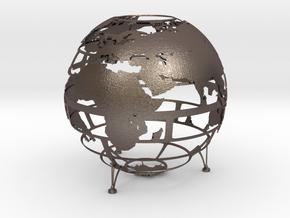 Empty Earth in Polished Bronzed Silver Steel