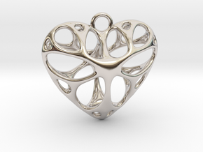 Heart Pendant_large in Platinum