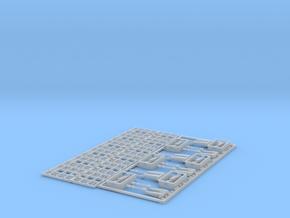 96-H0030: Jet Blast Deflector 6 panels 1:96 in Smooth Fine Detail Plastic