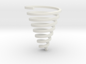 Ross Spiral Jewelry? (25mm tall) in White Natural Versatile Plastic