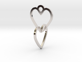 Connected heart of the ring in Platinum