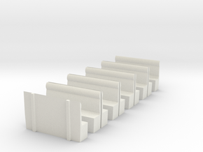 LCDR/SECR All 3rd - Seating in White Natural Versatile Plastic