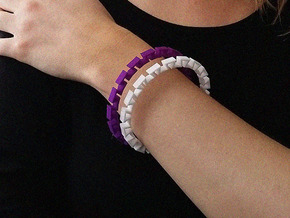 BRACELET WAVE 09d4 in Purple Processed Versatile Plastic
