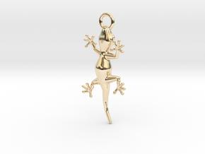 Gecko Luck Earring in 14K Yellow Gold