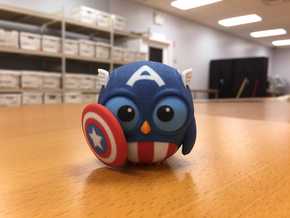 Captain Owl in Full Color Sandstone