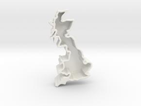England vase in Gloss White Porcelain