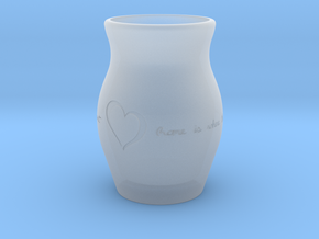"""""""Home Is Where the Heart Is"""" Vase in Smooth Fine Detail Plastic"""