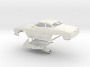 1/8 Legal Pro Mod Karmann Ghia in White Natural Versatile Plastic