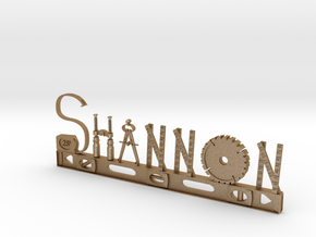 Shannon Nametag in Matte Gold Steel
