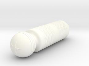 2875 BARBERPOLE SAFETY RAZOR HANDLE in White Processed Versatile Plastic