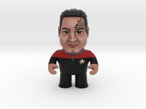 Chakotay Star Trek Caricature in Full Color Sandstone