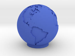 Ceramic Earth in Blue Processed Versatile Plastic