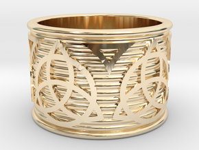 Celtic Ring size 14 or 23mm in 14K Gold