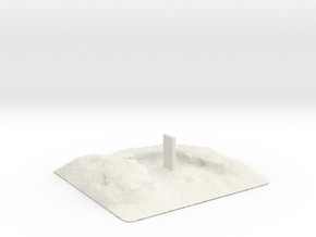 Space Odyssey Monolith in White Natural Versatile Plastic