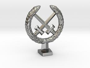 Laurel Crown in Polished Silver