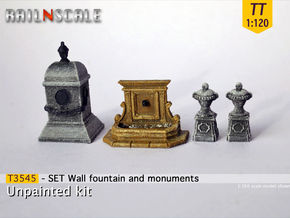 SET Wall fountain with monuments (TT 1:120) in Smooth Fine Detail Plastic