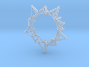 Star Rings 5 Points - Small - 3cm in Smooth Fine Detail Plastic