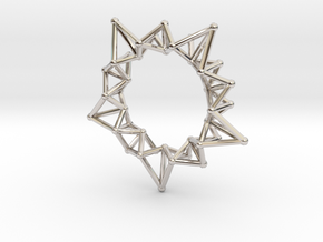 Star Rings 5 Points - Small - 3cm in Platinum