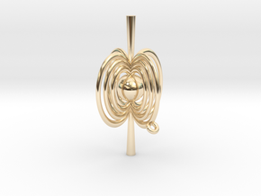 Pulsar Pendant in 14k Gold Plated Brass