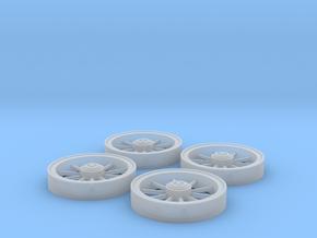 Trolley Wheels (1:32) in Smooth Fine Detail Plastic
