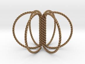 6 Ring Harmonizer Coil in Natural Brass