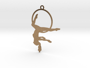 """Gazelle"" Aerial hoop pose in Natural Brass"