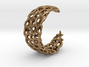 Voronoi Ring - Adjustable Sizing in Natural Brass