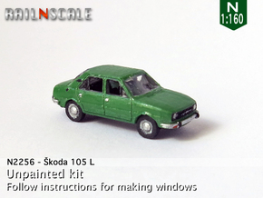 Skoda 105 L (N 1:160) in Smooth Fine Detail Plastic