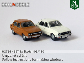 SET 2x Skoda 105/120 (N 1:160) in Smooth Fine Detail Plastic