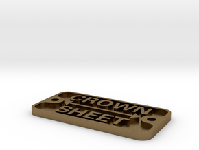 "3/4"" scale crown sheet plate in Natural Bronze"