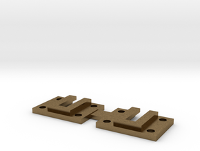 "3/4"" scale caboose wall bracket in Natural Bronze"