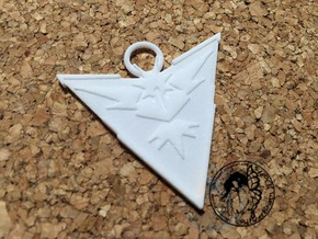 Custom Go Team Badge Instinct   in White Natural Versatile Plastic