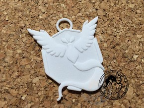 Custom Go Team Badge Mystic in White Natural Versatile Plastic