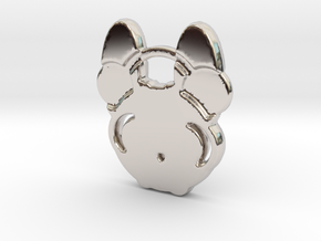 frenchie in Rhodium Plated Brass