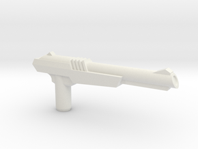 NES Inspired Zapper Gun w' 5mm Grip in White Natural Versatile Plastic: Large