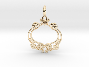 Nature No.8 Pendant in 14K Yellow Gold