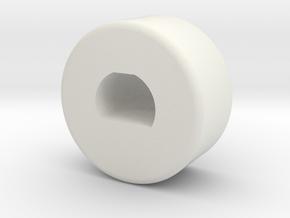 B6 Ballcup Holder in White Natural Versatile Plastic