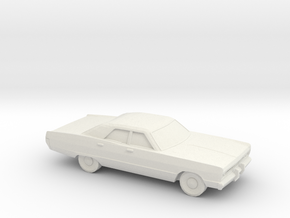 1/72 1969 Plymouth Fury Sedan in White Natural Versatile Plastic