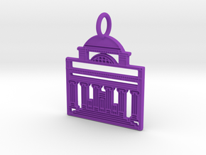 Columbia Pendant in Purple Processed Versatile Plastic